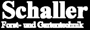 Schaller Forst- und Gartentechnik Logo